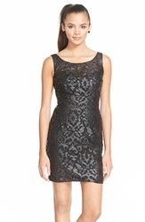 Women's Sean Collection Applique Mesh Minidress