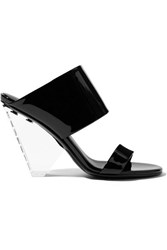 Balmain Lory Patent Leather And Perspex Sandals Black