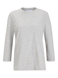John Lewis Collection Weekend By Foil Flower Top Grey Silver
