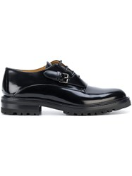 Valentino Buckle Oxford Shoes Black