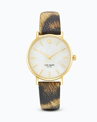 Kate Spade New York Animal Print Metro Watch 34Mm