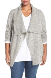 Plus Size Women's Eileen Fisher Donegal Tweed Wool And Mohair Sweater Jacket
