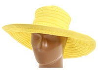 San Diego Hat Company Rbl299 Crushable Ribbon Floppy Hat Lemon Traditional Hats Yellow