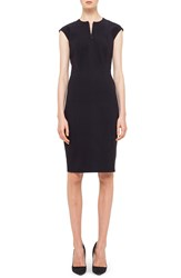 Akris Punto Cap Sleeve Sheath Dress Black