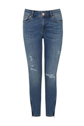 Oasis Rip And Repair Isabella Jeans Denim Indigo