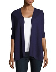 Lord And Taylor Oversized Cotton Blend Cardigan Blue