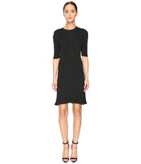 Mcq By Alexander Mcqueen Crochet Skater Dress Evergreen Women's Dress