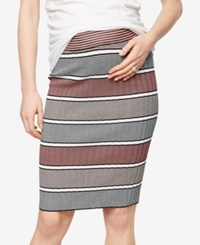 A Pea In The Pod Maternity Striped Pencil Skirt Pink Stripe