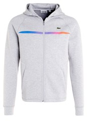 Lacoste Sport Tracksuit Top Silver Chine Grey