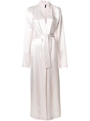 Unravel Project Long Classic Robe Pink And Purple