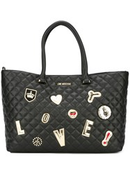 Love Moschino Quilted Tote Black