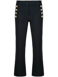 Derek Lam 10 Crosby Robertson Cropped Flare Trouser With Sailor Blue