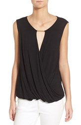 Ella Moss Women's 'Bella' Surplice Sleeveless Top