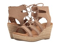 Minnetonka Leighton Taupe Suede Women's Wedge Shoes