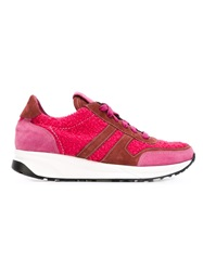 P.A.R.O.S.H. Panelled Lace Up Sneakers Pink And Purple