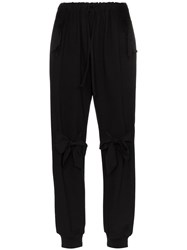 Simone Rocha Track Bow Embellished Trousers Black