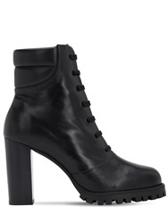 Stuart Weitzman 90Mm Cyler Leather Ankle Boots Black