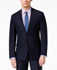 Ryan Seacrest Distinction New Blue Solid Slim Fit Jacket