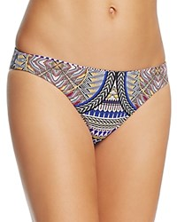 Red Carter Graphic Print Classic Bikini Bottom Plum Multi