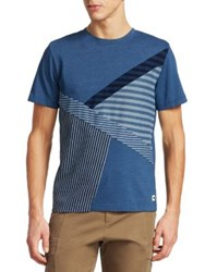Madison Supply Heathered Striped Tee Blue