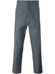 Societe Anonyme Punto Cavallo Stitch Detail Cropped Trousers Grey