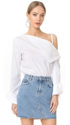 Dion Lee Axis Sleeve Shirt White