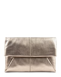 Jaeger Leather Envelope Clutch Metallic