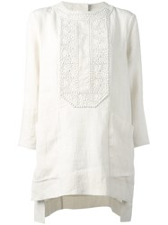 Isabel Marant Embroidered Floral Top White