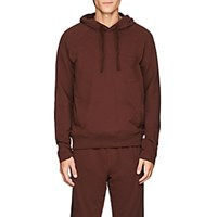 Atm Anthony Thomas Melillo Brushed Pima Stretch Cotton Blend Hoodie Wine