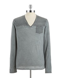 William Rast Space Dyed Pullover Light Grey