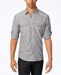 Inc International Concepts Men's Textured Shirt Only At Macy's Grey