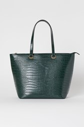 Handm H M Crocodile Patterned Shopper Turquoise