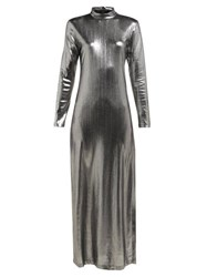Bella Freud Radzville Shimmering Maxi Dress Silver