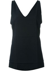 Alexander Wang V Neck Tank Top Black