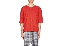 Barena Thin Striped Cotton Boxy T Shirt Red
