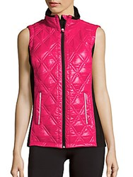 Nanette Lepore Sway Sleeveless Quilted Vest Cerise