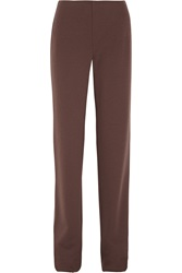 Missoni Jersey Knit Wool Bootcut Pants Brown