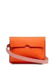 Pb 0110 Ab65 Leather Belt Bag Orange Multi
