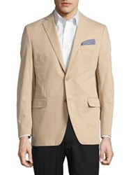 Black Brown Jack Fit Two Button Jacket Tan