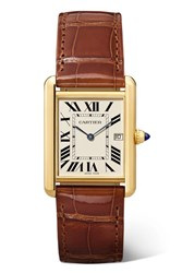 Cartier Tank Louis 25.5Mm Large 18 Karat Gold And Alligator Watch One Size
