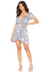 Auguste Frill Wrap Mini Dress Blue