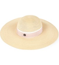 Maison Michel Canapa Straw Hat Natural Pink