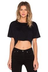 Oak Drape Panel Tee Black