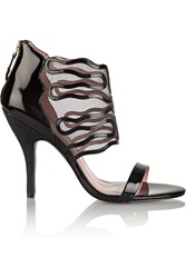 Vivienne Westwood Patent Leather And Mesh Sandals