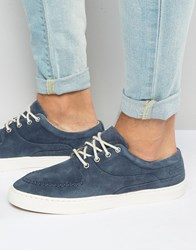 Pointer Debaser Plimsolls In Suede Blue