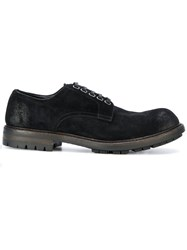 Dolce And Gabbana Lace Up Shoes Cotton Leather Suede Rubber Black