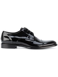 Dolce And Gabbana Lace Up Derby Shoes Men Leather Patent Leather 43 Black