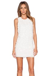 Parker Black Allegra Sequin Dress White