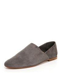 Vince Maude Suede Slip On Loafer Coastal Charcoal