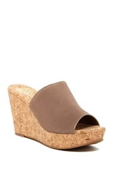 Vince Camuto Maran Wedge Slip On Sandal Beige